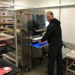Our technician Heath Samsel testing the 880